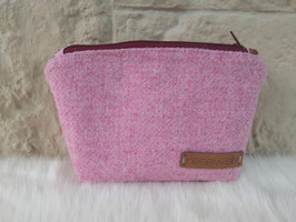Kosmetiktasche aus Harris Tweed  (rose)