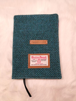 Notizbuch Harris Tweed (grünblau)