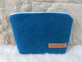 Kosmetiktasche aus Harris Tweed  (blau)