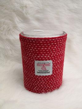 Kerze Harris Tweed (christmas red 1)