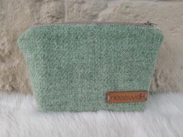 Kosmetiktasche aus Harris Tweed  (pastelgrün)