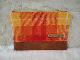 Tasche, Utensilientasche (karo orange)