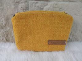 Kosmetiktasche aus Harris Tweed  (gelb)