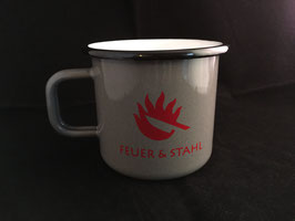 """Emaille Tasse """"Feuer & Stahl"""" limited Editionname"""