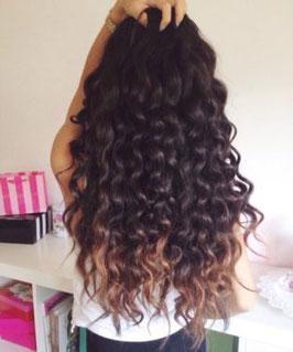 Haartresse gelockt 100gr 65-70 cm