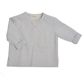 Shirt Lenz (light blue stripe)