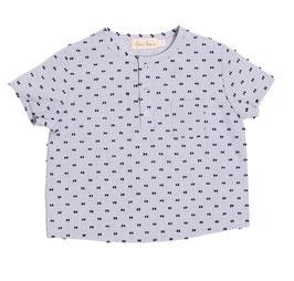 Shirt Thilo blau gestreift mit Tupfen