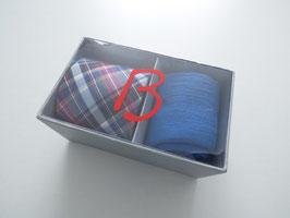 Herrenset Krawatte mit passender Socke blau in Geschenkbox