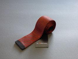 Strickkrawatte schwarz-rost