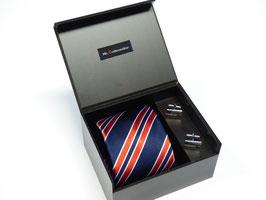 Krawatte mit Manschettenknöpfen in Geschenkbox