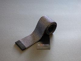 Strickkrawatte schwarz-silber