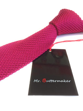 Strickkrawatte magenta/pink