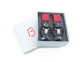 Hosenträger rot in Geschenkbox