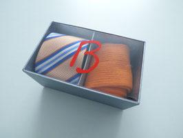 Herrenset Krawatte mit passender Socke orange in Geschenkbox