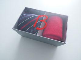 Herrenset Krawatte mit passender Socke rot in Geschenkbox