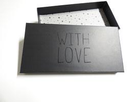 """""""with love"""" Geschenkbox für eine Krawatte oder einen Schal"""
