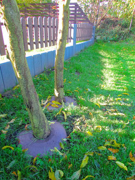Grasstoppplatten ∅ 50 cm, ohne Bohrung, aus Recycling Kunststoff