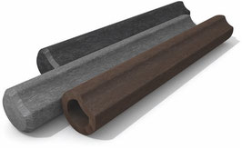 Hohlkehlpalisaden ohne Spitze ∅ 11 cm, aus Recycling Kunststoff