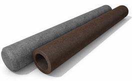 Rundpalisaden ohne Spitze ∅ 12 cm, aus Recycling Kunststoff