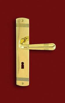 REIMS 1925 B Art Dèco Zimmertürgarnitur mit breiten Langschildern