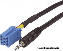 Mini ISO Stecker auf Klinkenstecker für Blaupunkt Radios . Art.nr.: 10144