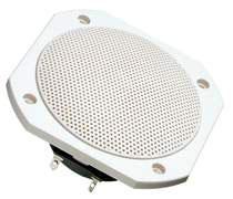 Breitbandlautsprecher rund 10 cm kpl. mit Schutzgitter in weiß. Art.Nr.: 20006