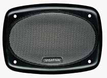 Lautsprecher Schutzgitter aus schwarz lackiertem Metall. Zierring aus schwarzem Kunststoff. Art.Nr.: 20504