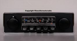 Blaupunkt Frankfurt mit schwarzer Chromblende für viele Ford Fahrzeuge der 60er- 70er Jahre