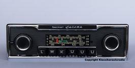 Becker Europa 463 mit Chromrahmen und Nadelstreifendesign für Mercedes Benz /8, 123, W107, Pagode. Art.-Nr.: 45280