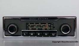 Becker Europa mit Chromrahmen und Nadelstreifendesign für Jaguar 70er-80er Jahre. Art.-Nr.: 60544