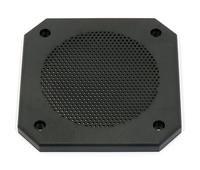 Lautsprecher Schutzgitter aus schwarzem Kunststoff. Passend für viele 10-cm-Lautsprecher. Art.Nr.: 20500