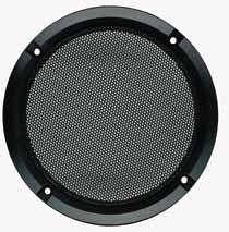 Lautsprecher Schutzgitter aus schwarz lackiertem Metall. Zierring aus schwarzem Kunststoff. Auf Anfrage auch in anderen Farben lackiert erhältlich.Art.Nr.: 20505