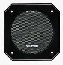 Lautsprecher Schutzgitter aus schwarz lackiertem Metall. Zierring aus schwarzem Kunststoff. Art.Nr.: 20501