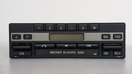 Becker Europa 2000 BE 1120 Stereo mit Cassettenlaufwerk für Porsche 911 ab Baujahr 1980, Art.nr.: 10045
