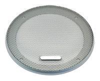 Lautsprecher Schutzgitter aus silbern lackiertem Metall. Zierring aus silbern lackiertem Kunststoff. Art.Nr.: 20502