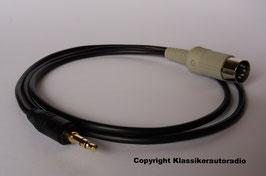 Adapterkabel für Becker Autoradios mit Q- Taste ( Quelle ) zum Anschluß von MP3,  i Pod, Smartphone, Handy ......