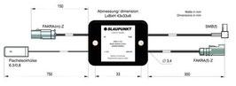 Blaupunkt aktiver Antennenverteiler für analoges Radio und DAB+. Fakra auf Fakra. Art.nr.: 10134