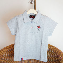Polo golf gris chine enfants