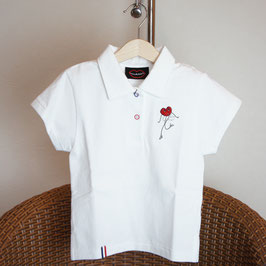 Polo golf blanc de blanc enfants