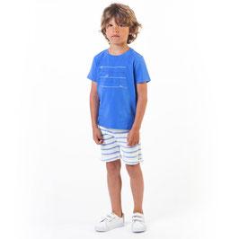 コットンTシャツ ブルー