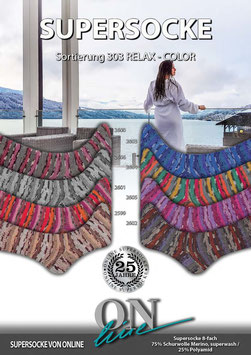 Online SUPERSOCKE 8-FACH SORT.303 RELAX-COLOR