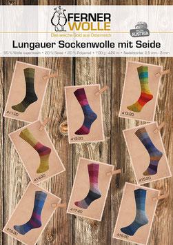 Socken nach Wunsch mit Ferner Ferner Lungauer mit Seide