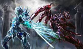 プレイマット 「翡翠と黒鉄の竜騎士」