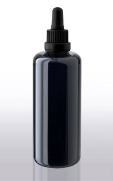 Schicke Violettglasflasche (100ml) inkl. Pipette