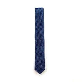 Krawatte, 6.0 cm breit, blau/silber gemustert