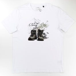 T-Shirt Der Berg ruft, weiß