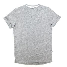 T-Shirt, hellgrau uni