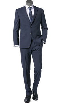 Anzug, dunkelblau meliert