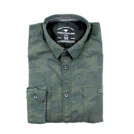 Sporthemd, army grün gemustert