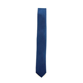 Krawatte, 6.0 cm breit, blau gemustert